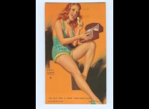 T6676/ Pin Up Erotik Frau im Badeanzug Mutoskope-Card 1948