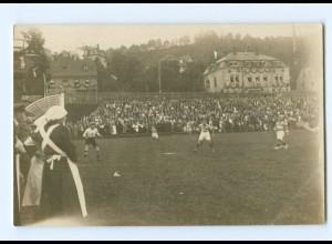 Y8400/ Fußball Foto AK Ort? ca. 1912