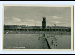 T6843/ Hannover Maschsee Strandbad 1937 Badeanstalt