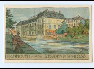 Y6602/ Hannover Residenzschloß Litho Künstler AK ca.1910