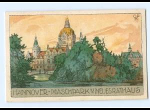 Y6601/ Hannover Maschpark Litho Künstler AK ca.1910
