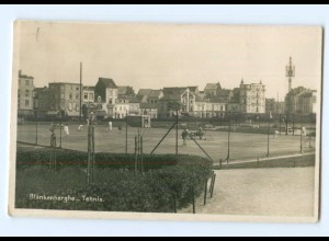 Y6605/ Blankenberghe Tennisplatz Foto AK ca.1935 Belgien