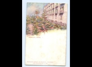 Y8394/ Palermo Jardin de L`Hotel Weinen`s Hotel de France AK ca.1910