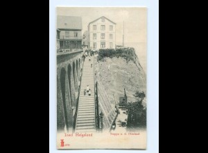 T6900/ Helgoland Treppe n.d. Oberland AK ca.1900