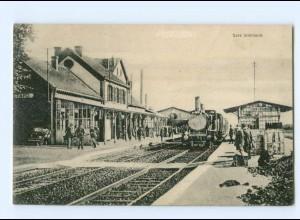 T7367/ Henin Lietard La Gare Bahnhof AK Frankreich 1916