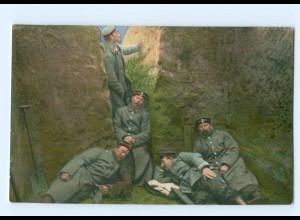 Y7072/ Schützengraben Aus großer Zeit Feldzug 1914/15 1. Weltkrieg AK