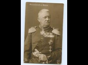 T7633/ Generaloberst von Bülow mit Ehrenzeichen Orden Foto AK 1914