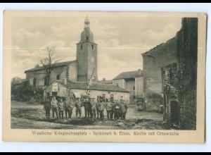 T7366/ Spincourt bei Etan Ortswache 1. Weltkrieg AK Frankreich ca.1915