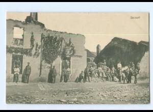T7363/ Secourt zerstört 1. Weltkrieg Frankreich AK ca.1915
