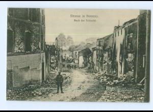 T7365/ Straße in Nomeny 1. Weltkrieg AK Frankreich ca.1915