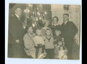 Y7081/ Weihnachten Privat Foto Heiligabend Familie Kinder Puppe ca.1940