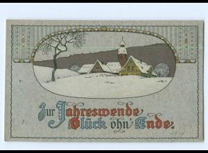 Y6917/ Neujahr Litho AK Wintermotiv ca.1912