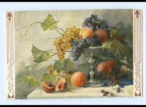 Y6914/ Stilleben Obst Weintrauben AK Verlag. TSN ca.1905