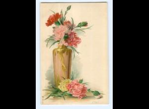 Y6912/ Blumen Blumenvase Litho AK ca.1900