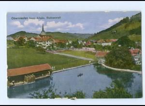 Y6990/ Oberstaufen Badeanstalt AK ca.1918