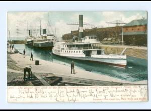Y7065/ Newport News Virginia The largest Dry Dock Schiffe Dampfer AK USA 1906
