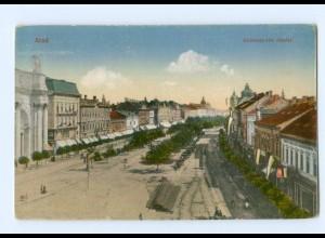 T7245/ Rumänien Arad Andrássy-téri részlet 1918 AK