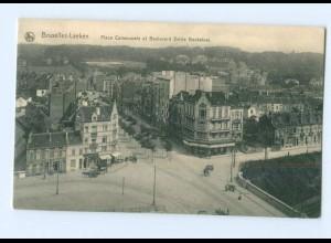 T7252/ Belgien Bruxelles-Laeken Place Communale et Boulevard Emile Bockstael AK