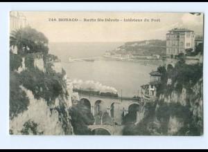 T7244/ Monaco Ravin Ste-Dévote Intérieur du Port AK