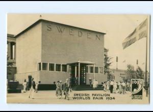 Y7057/ Chicago A Century of Progress 1934 Swedish Pavilion World`s Fair 1934 AK