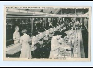 Y7056/ Chicago A Century of Progress 1934 Bottling Canadian Club AK USA