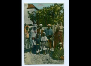 U364/ Tangier Tanger Marokko A Group of Moors AK ca.1910