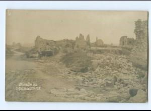 T7116/ Malancourt zerstört Foto AK Frankreich 1. Weltkrieg