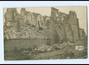 T7115/ Forges Kirche zerstört Foto AK Frankreich 1. Weltkrieg
