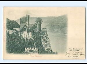 Y6823/ Burg Rheinstein Reliefkarte 1906 AK