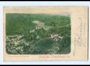 Y6806/ Schwarzburg vom Trippstein Reliefkarte 1903 AK
