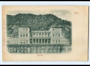 Y6820/ Ems Kursaal Reliefkarte ca.1900 AK
