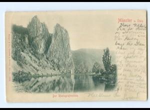 Y6819/ Münster Der Rheingrafenstein Reliefkarte 1904 AK