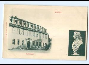 Y6804/ Weimar Goethehaus Reliefkarte ca.1900 AK