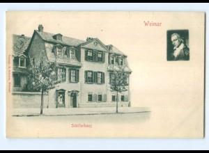 Y6805/ Weimar Schillerhaus Reliefkarte ca.1900 AK