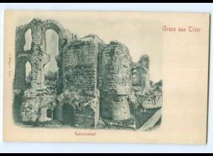 Y6818/ Trier Kaiserpalast Reliefkarte ca.1900 AK