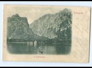 Y6772/ Königsee St.Bartholomä Reliefkarte 1900 AK