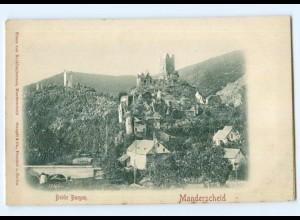 Y6815/ Manderscheid Beide Burgen Reliefkarte ca.1900 AK