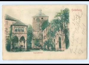 Y6795/ Heidelberg Ruprechtsbau Reliefkarte ca.1900 AK