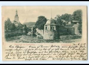 Y6814/ Kreuznach Nahebrücke und Kautzenberg Reliefkarte 1899 AK