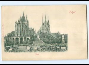 Y6803/ Erfurt Dom Reliefkarte ca.1900 AK
