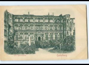 Y6794/ Heidelberg Otto Heinrichsbau Reliefkarte ca.1900 AK