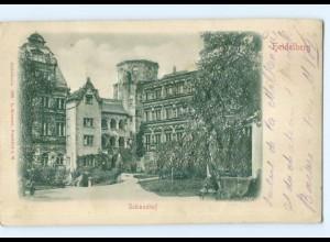 Y6792/ Heidelberg Schlosshof Reliefkarte 1900 AK