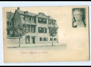 Y6802/ Weimar Schillers Wohnhaus Reliefkarte 1900 AK