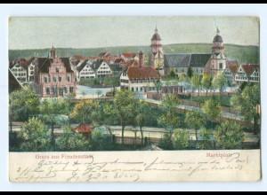 Y6791/ Freudenstadt Marktplatz Reliefkarte 1905 AK