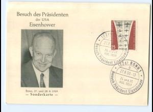 Y6995/ USA Präsident Eisenhower in Deutschland 1959 Sonderkarte