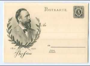 Y6983/ Heinrich von Stephan 1831 - 1931 Post Ganzsache