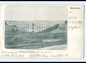 T7181-084./ Netzschkau Göltzschtalbrücke 1901 AK