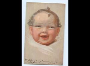 Y7044/ Kind Baby lacht Primus-Postkarte AK 1921 Fialkowska