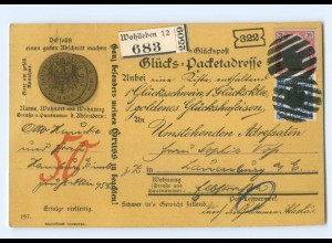 Y6857/ Glücks-Postkarte Humor AK 1900