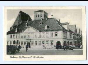 T7764-3110/ Uelzen Rathaus mit St.Marien AK